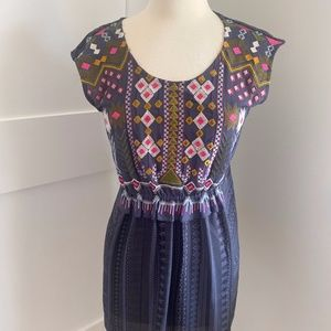 ANTHROPOLOGIE One September Embroidery Tunic Dress